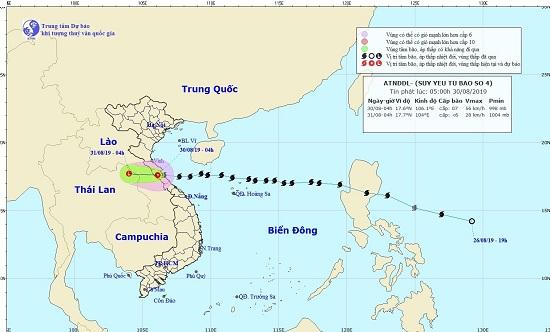 Bão số 4 suy yếu thành áp thấp, Bắc Bộ và Trung Bộ tiếp tục mưa lớn - Ảnh 1