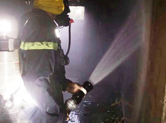 Nghệ An: Giải cứu cụ bà 80 tuổi kẹt trong đám cháy, nghi do thắp hương ngày Tết - Ảnh 1