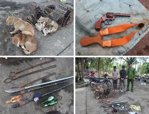 Nghệ An: Nhóm trộm chó hung hãn mang theo hung khí, chém công an bị thương - Ảnh 1