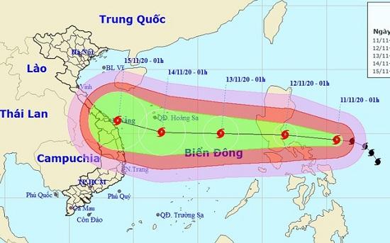 Bão Vamco di chuyển nhanh, hướng vào biển Đông, sức gió giật cấp 14 - Ảnh 1
