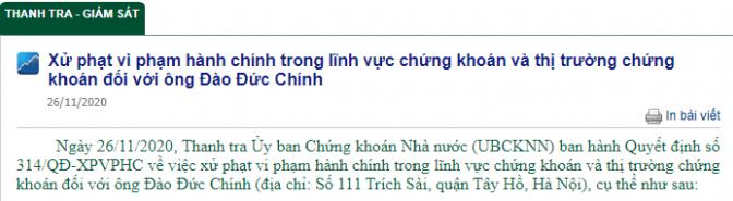 Chủ tịch HĐQT Xuân Hòa bị phạt 30 triệu đồng vì mua cổ phiếu không báo cáo - Ảnh 1