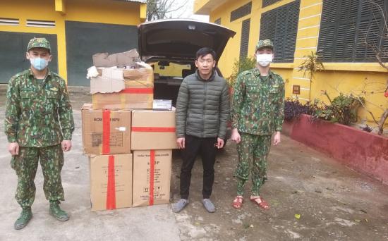 Cao Bằng: Tạm giữ 11.000 khẩu trang y tế không rõ nguồn gốc chuẩn bị chuyển sang biên giới  - Ảnh 1