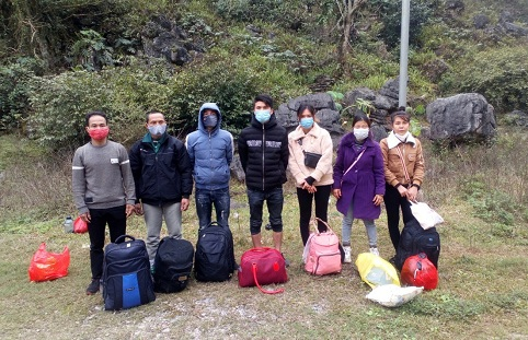 Cao Bằng: Nhóm công dân nhập cảnh trái phép từ Trung Quốc về Việt Nam - Ảnh 1