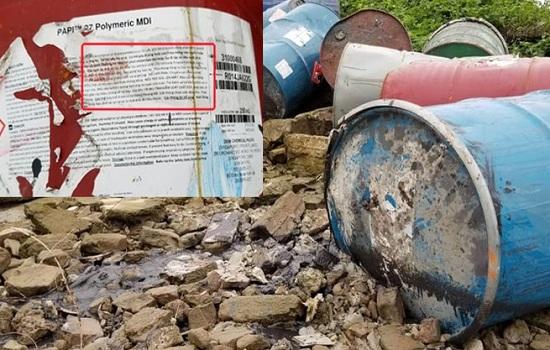 Hà Nội: Xác định đối tượng vứt thùng phuy nghi chứa chất độc hại xuống sông Hồng - Ảnh 1