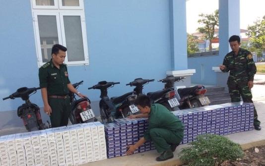 Tây Ninh: Liên tiếp bắt giữ 2 vụ buôn lậu, thu giữ hơn 6.500 gói thuốc lá lậu, 5 xe gắn máy các loại - Ảnh 1