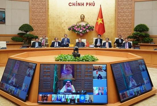 Thủ tướng dự họp thượng đỉnh trực tuyến G20 ứng phó COVID-19 - Ảnh 2