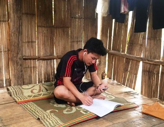 Học sinh vùng cao dựng lán, đào củ rừng kiếm tiền mua thẻ điện thoại để học online trong mùa dịch - Ảnh 2