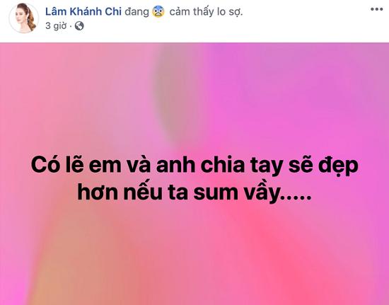 """Sáng đăng status """"chia tay"""", chiều vợ chồng Lâm Khánh Chi lại """"rắc cẩu lương"""" """"như chưa hề có cuộc chia ly"""" - Ảnh 1"""