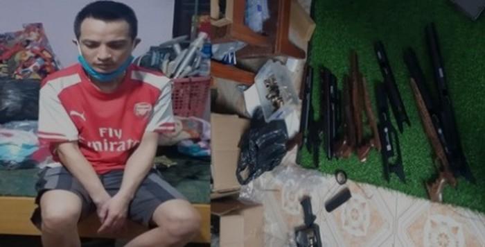 """Phát hiện """"xưởng"""" súng tự chế khủng ở Bắc Giang - Ảnh 1"""