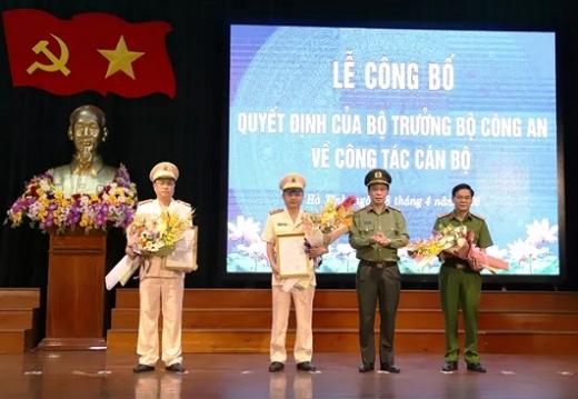 Hà Tĩnh có 2 tân phó giám đốc công an tỉnh - Ảnh 1