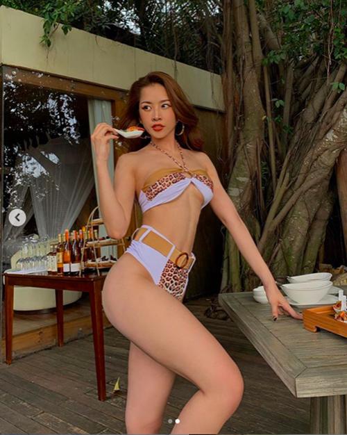Thả dáng với bikini khoe trọn 3 vòng bốc lửa, Chi Pu khiến dân mạng trầm trồ vì body quá xuất sắc - Ảnh 4