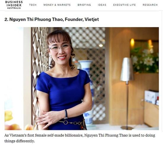 Bà chủ Vietjet Nguyễn Thị Phương Thảo lọt 100 người thay đổi kinh tế châu Á - Ảnh 1