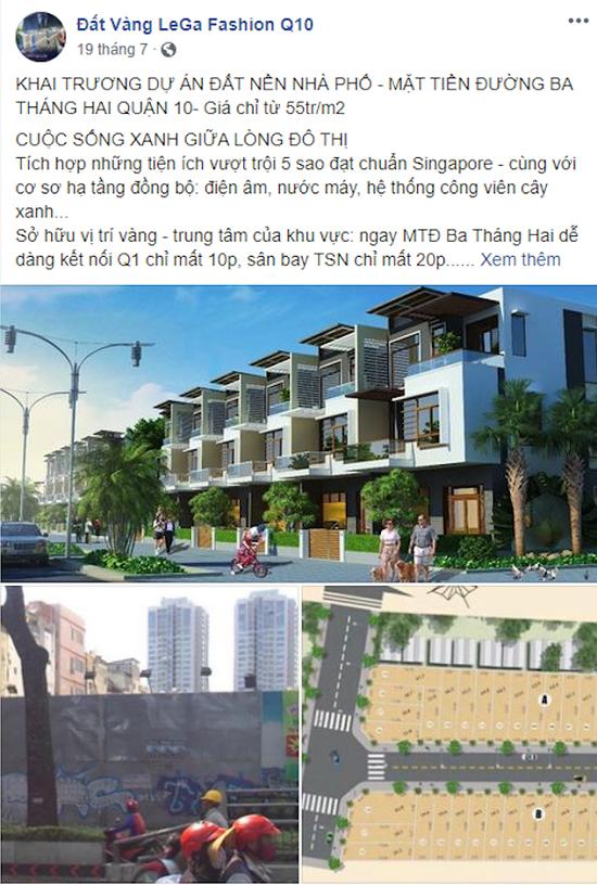 """TP.HCM: Cảnh báo dự án """"ma"""" mang tên Đất Vàng LeGa Fashion tại quận 10 - Ảnh 1"""