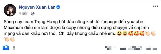 Trọng Hưng nói gì sau loạt status của siêu mẫu Xuân Lan? - Ảnh 2