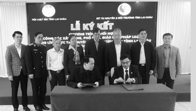 Lai Châu: Hội Luật gia và sở TN&MT ký kết phổ biến, giáo dục pháp luật về tài nguyên và môi trường - Ảnh 1