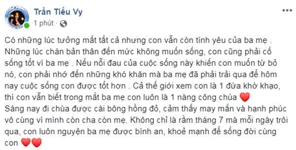 Hoa hậu Trần Tiểu Vy: Đã có lúc tưởng mất tất cả, chán nản không muốn sống - Ảnh 1