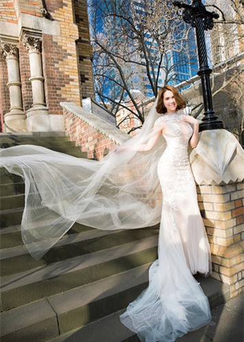 Ngọc Trinh diện váy cưới đẹp lộng lẫy gây bất ngờ - Ảnh 6