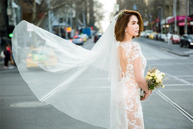 Ngọc Trinh diện váy cưới đẹp lộng lẫy gây bất ngờ - Ảnh 8
