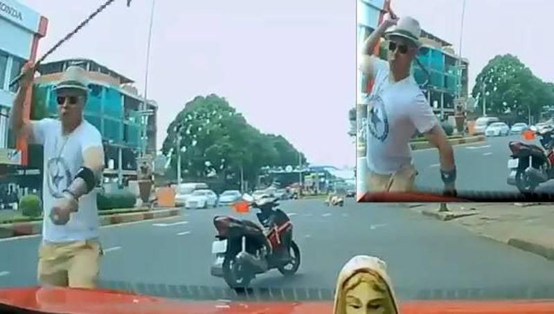 Thầy chùa đập vỡ kính ô tô người đi đường được đưa đi điều trị tâm thần - Ảnh 3