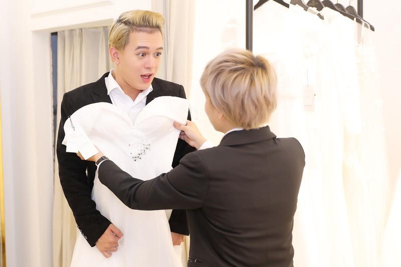 """Quang Anh - Bảo Hân """"Về nhà đi con"""" khiến fan bất ngờ vì cùng nhau thử váy cưới - Ảnh 3"""