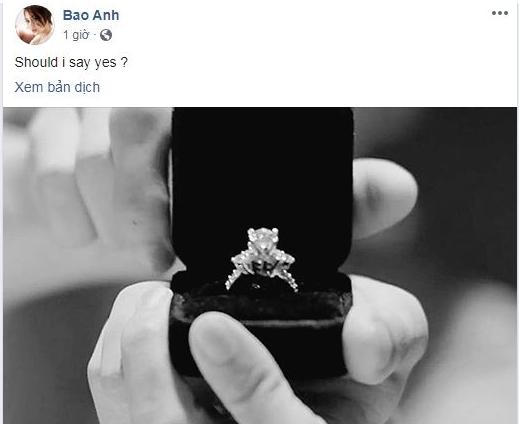 Tin tức giải trí mới nhất ngày 14/9: Bảo Anh bất ngờ khoe nhẫn cưới kim cương - Ảnh 1