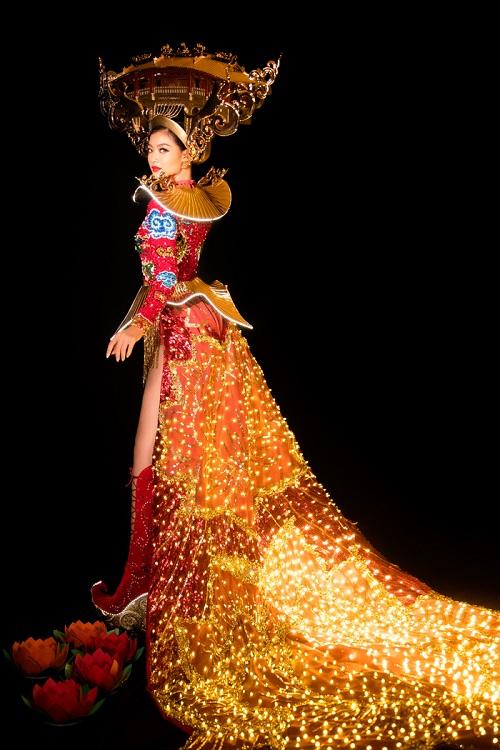 Tin tức giải trí mới nhất ngày 21/10: Kiều Loan quyết giật giải Miss Grand với quốc phục phát sáng - Ảnh 2