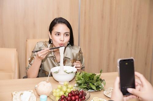 Hoa hậu thế giới 2013 Megan Young thích thú thưởng thức phở và trà đá vỉa hè ở Việt Nam - Ảnh 5