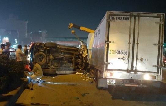Ô tô Fortuner 7 chỗ đâm trực diện xe thư báo khiến 3 người thương vong - Ảnh 1