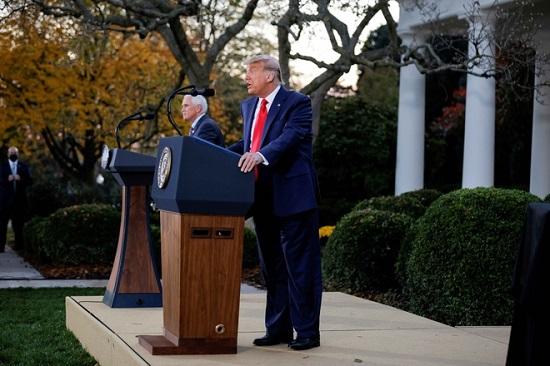 Ông Trump nói gì trong lần đầu tiên phát biểu công khai sau bầu cử tổng thống Mỹ? - Ảnh 1