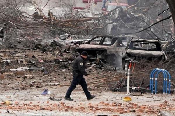 Hiện trường vụ nổ xe rung chuyển thành phố Mỹ ngay sáng Giáng sinh - Ảnh 8