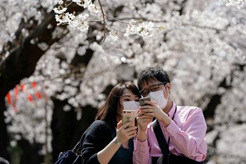 Người Nhật vẫn đổ xô đi đón ngọn lửa Olympic, ngắm hoa anh đào dù chưa hết dịch Covid-19 - Ảnh 4