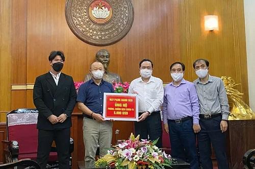 """HLV Park Hang Seo quyên góp 5.000 USD ủng hộ """"Quỹ phòng chống dịch Covid-19"""" - Ảnh 1"""