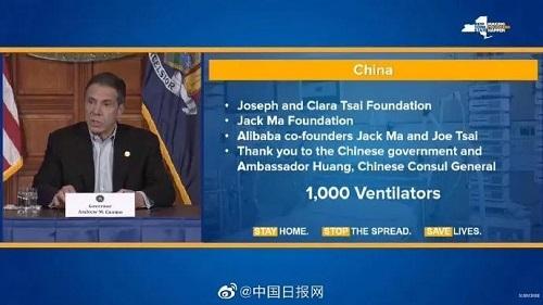Dịch Covid-19 ở Mỹ: New York nhận được 1.000 máy thở từ Trung Quốc - Ảnh 1