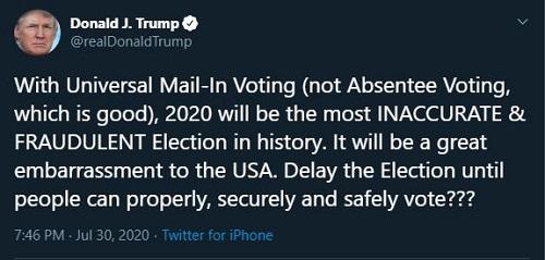 Ông Trump bất ngờ đề nghị hoãn bầu cử tổng thống Mỹ - Ảnh 2