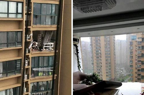 """Trung Quốc: Bão Hagupit """"xé toạch"""" chung cư cao cấp, thổi ngược dòng chảy thác nước lớn - Ảnh 2"""