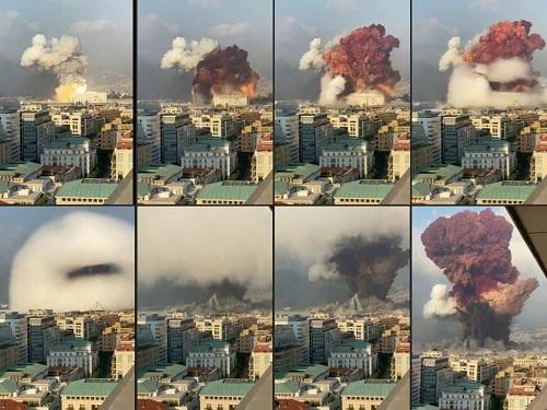 Video mái nhà thờ sụp đổ rơi trúng người linh mục đang làm lễ trong vụ nổ kinh hoàng ở Lebanon - Ảnh 1