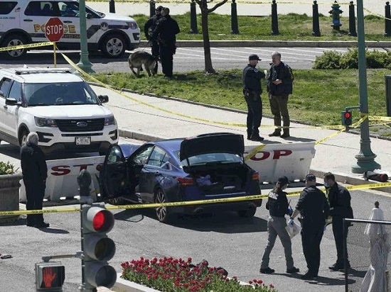 Mỹ: Tấn công bằng xe và dao ngoài Đồi Capitol, 2 cảnh sát thương vong - Ảnh 1