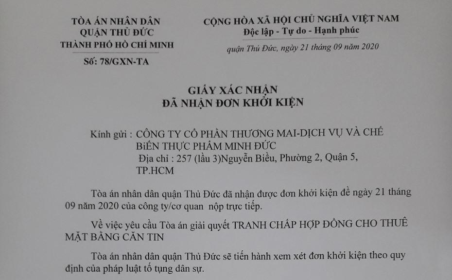 TP. HCM:  Công ty Minh Đức khởi kiện Điện lực Thủ Đức ra tòa vì đơn phương ngừng cấp điện - Ảnh 2