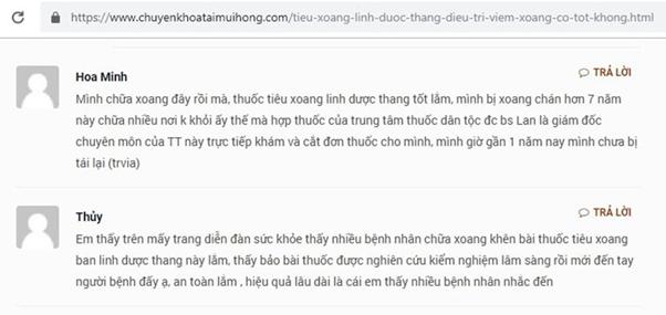 Trung tâm Thừa kế và Ứng dụng Đông y Việt Nam chữa viêm xoang có tốt không? - Ảnh 2