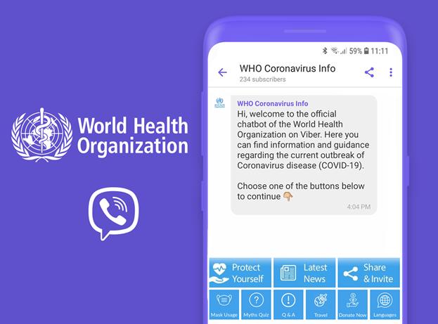 Viber được WHO chọn làm kênh thông tin chính thức về tình hình dịch COVID-19 - Ảnh 1