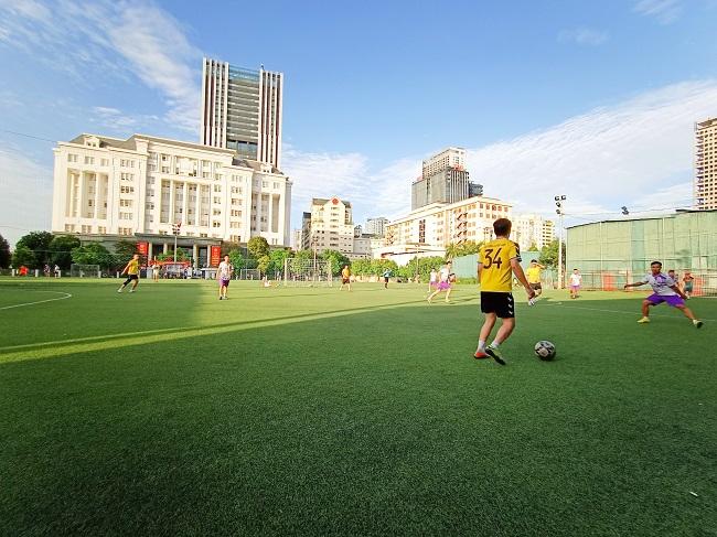 Giao hữu bóng đá giữa FC Đời sống & Pháp luật và Đại đội 1 - Tiểu đoàn Cảnh sát đặc nhiệm Hà Nội - Ảnh 8