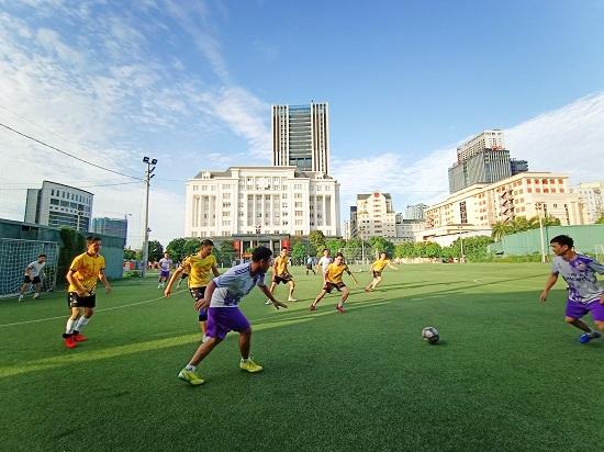 Giao hữu bóng đá giữa FC Đời sống & Pháp luật và Đại đội 1 - Tiểu đoàn Cảnh sát đặc nhiệm Hà Nội - Ảnh 10