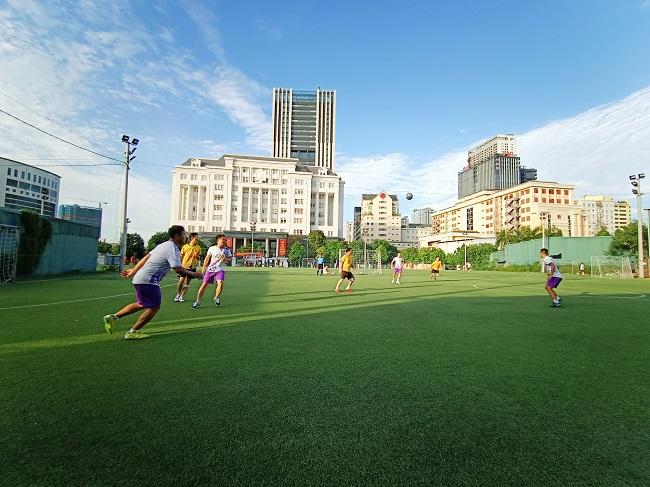 Giao hữu bóng đá giữa FC Đời sống & Pháp luật và Đại đội 1 - Tiểu đoàn Cảnh sát đặc nhiệm Hà Nội - Ảnh 11