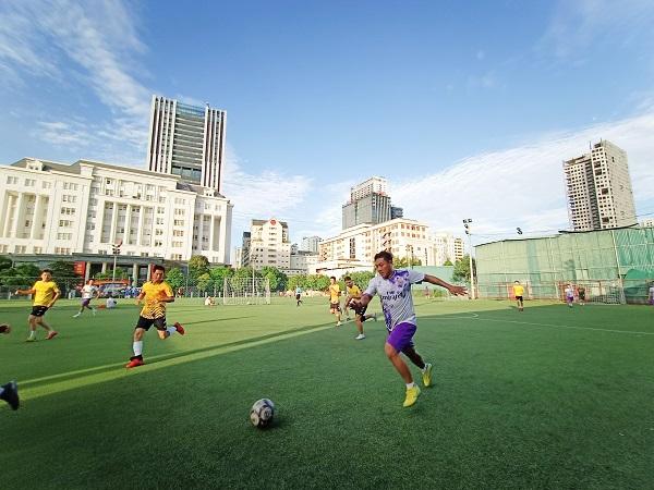 Giao hữu bóng đá giữa FC Đời sống & Pháp luật và Đại đội 1 - Tiểu đoàn Cảnh sát đặc nhiệm Hà Nội - Ảnh 12