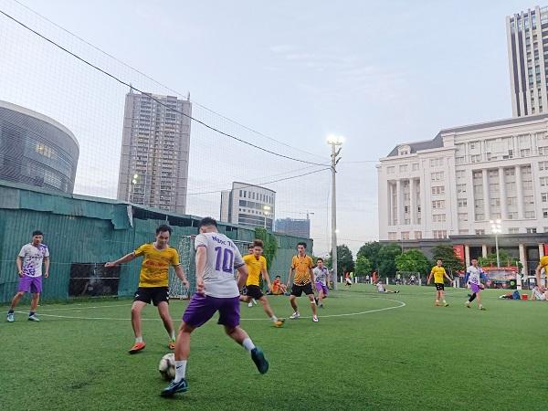 Giao hữu bóng đá giữa FC Đời sống & Pháp luật và Đại đội 1 - Tiểu đoàn Cảnh sát đặc nhiệm Hà Nội - Ảnh 13
