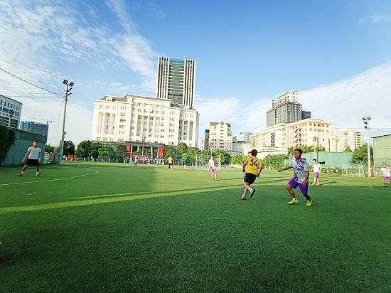 Giao hữu bóng đá giữa FC Đời sống & Pháp luật và Đại đội 1 - Tiểu đoàn Cảnh sát đặc nhiệm Hà Nội - Ảnh 14