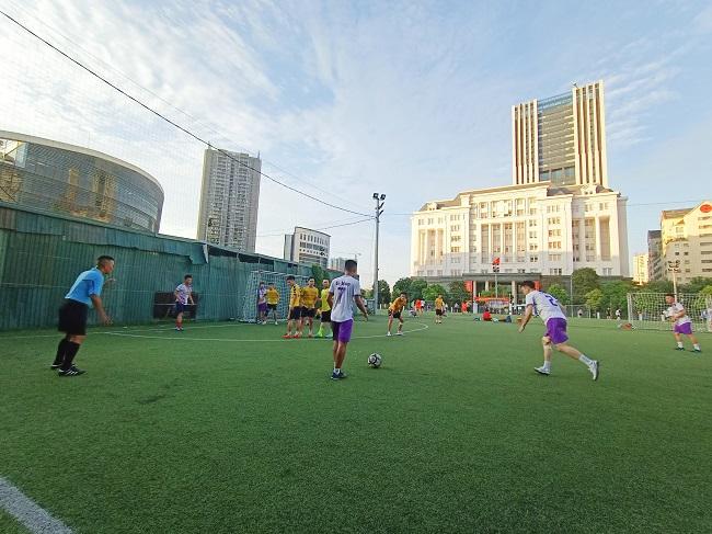 Giao hữu bóng đá giữa FC Đời sống & Pháp luật và Đại đội 1 - Tiểu đoàn Cảnh sát đặc nhiệm Hà Nội - Ảnh 15