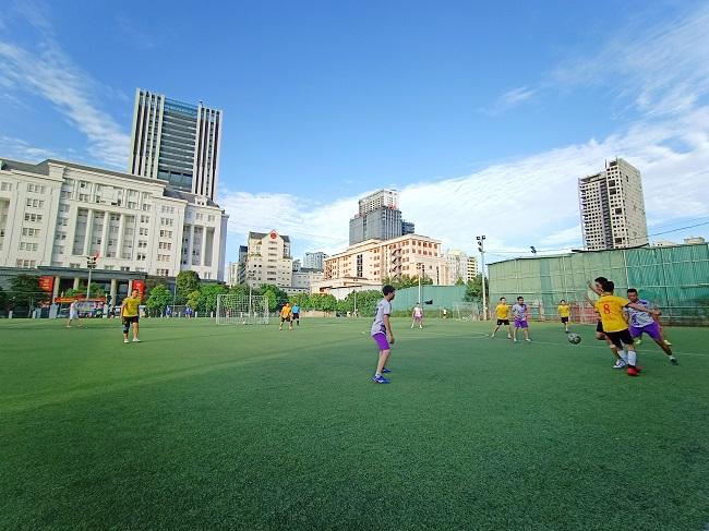 Giao hữu bóng đá giữa FC Đời sống & Pháp luật và Đại đội 1 - Tiểu đoàn Cảnh sát đặc nhiệm Hà Nội - Ảnh 18