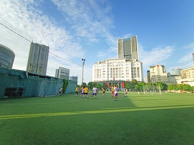Giao hữu bóng đá giữa FC Đời sống & Pháp luật và Đại đội 1 - Tiểu đoàn Cảnh sát đặc nhiệm Hà Nội - Ảnh 21