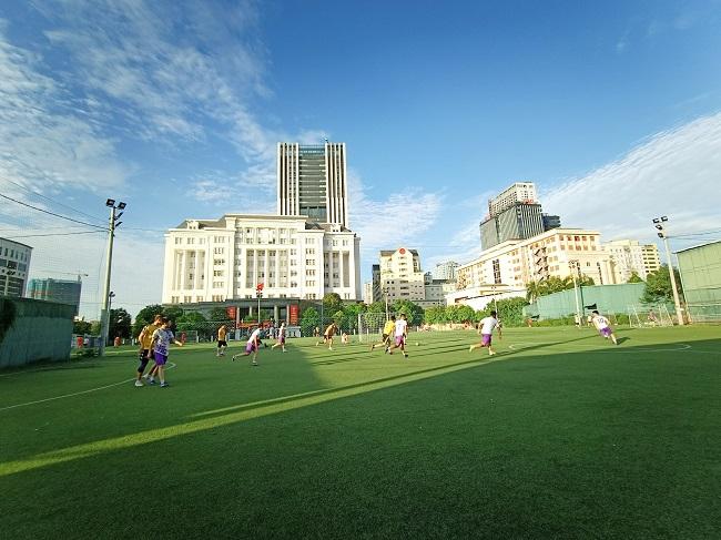 Giao hữu bóng đá giữa FC Đời sống & Pháp luật và Đại đội 1 - Tiểu đoàn Cảnh sát đặc nhiệm Hà Nội - Ảnh 19